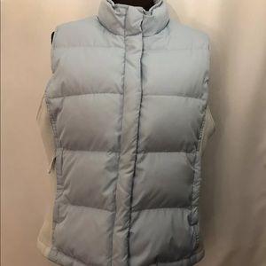 GAP Down Puffer Vest, Full Zip, Sz L, Light Blue.